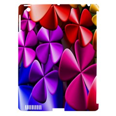 Colorful Flower Floral Rainbow Apple Ipad 3/4 Hardshell Case (compatible With Smart Cover) by Mariart