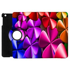 Colorful Flower Floral Rainbow Apple Ipad Mini Flip 360 Case by Mariart