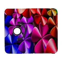 Colorful Flower Floral Rainbow Galaxy S3 (flip/folio) by Mariart