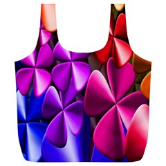 Colorful Flower Floral Rainbow Full Print Recycle Bags (l)  by Mariart