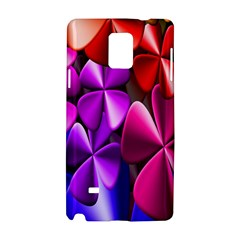 Colorful Flower Floral Rainbow Samsung Galaxy Note 4 Hardshell Case by Mariart