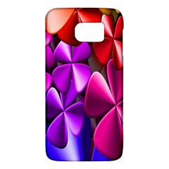 Colorful Flower Floral Rainbow Galaxy S6 by Mariart