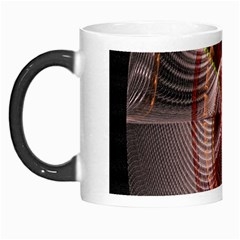Fractal Fabric Ball Isolated On Black Background Morph Mugs