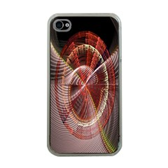 Fractal Fabric Ball Isolated On Black Background Apple Iphone 4 Case (clear)