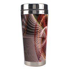 Fractal Fabric Ball Isolated On Black Background Stainless Steel Travel Tumblers by Nexatart