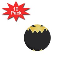 Halloween Pumpkin Orange Mask Face Sinister Eye Black 1  Mini Buttons (10 Pack)  by Mariart