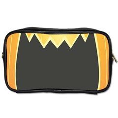 Halloween Pumpkin Orange Mask Face Sinister Eye Black Toiletries Bags by Mariart