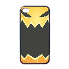 Halloween Pumpkin Orange Mask Face Sinister Eye Black Apple Iphone 4 Case (black) by Mariart