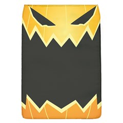 Halloween Pumpkin Orange Mask Face Sinister Eye Black Flap Covers (l)  by Mariart