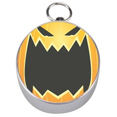 Halloween Pumpkin Orange Mask Face Sinister Eye Black Silver Compasses by Mariart