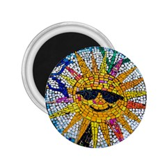 Sun From Mosaic Background 2 25  Magnets by Nexatart