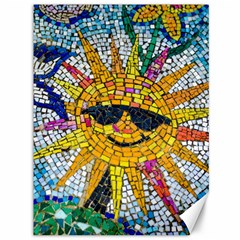 Sun From Mosaic Background Canvas 36  X 48   by Nexatart