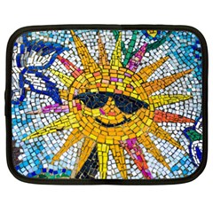 Sun From Mosaic Background Netbook Case (large) by Nexatart
