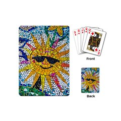 Sun From Mosaic Background Playing Cards (mini)  by Nexatart