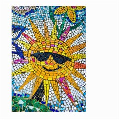 Sun From Mosaic Background Large Garden Flag (two Sides) by Nexatart