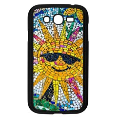 Sun From Mosaic Background Samsung Galaxy Grand Duos I9082 Case (black) by Nexatart