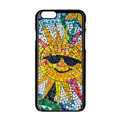 Sun From Mosaic Background Apple Iphone 6/6s Black Enamel Case by Nexatart