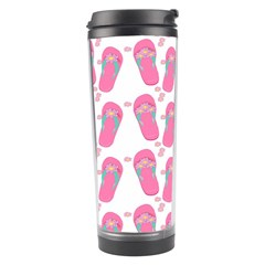 Flip Flops Flower Star Sakura Pink Travel Tumbler by Mariart