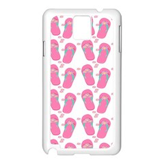 Flip Flops Flower Star Sakura Pink Samsung Galaxy Note 3 N9005 Case (white) by Mariart
