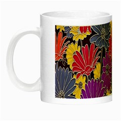 Colorful Floral Pattern Background Night Luminous Mugs