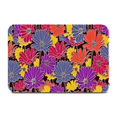 Colorful Floral Pattern Background Plate Mats by Nexatart