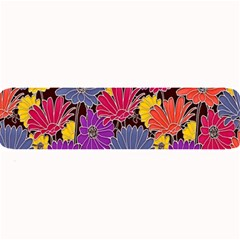 Colorful Floral Pattern Background Large Bar Mats by Nexatart
