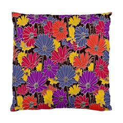 Colorful Floral Pattern Background Standard Cushion Case (two Sides) by Nexatart