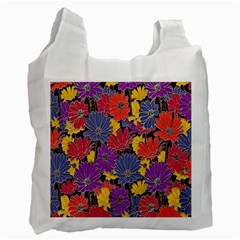 Colorful Floral Pattern Background Recycle Bag (two Side)  by Nexatart