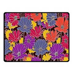Colorful Floral Pattern Background Fleece Blanket (small) by Nexatart