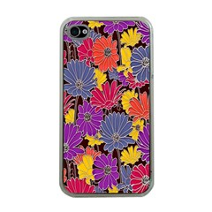 Colorful Floral Pattern Background Apple Iphone 4 Case (clear) by Nexatart