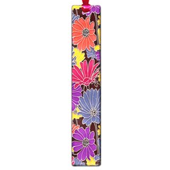 Colorful Floral Pattern Background Large Book Marks by Nexatart