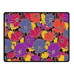 Colorful Floral Pattern Background Double Sided Fleece Blanket (small)  by Nexatart