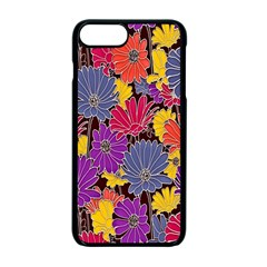 Colorful Floral Pattern Background Apple Iphone 7 Plus Seamless Case (black)