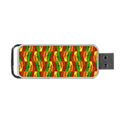 Colorful Wooden Background Pattern Portable Usb Flash (one Side) by Nexatart