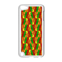 Colorful Wooden Background Pattern Apple Ipod Touch 5 Case (white) by Nexatart
