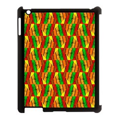 Colorful Wooden Background Pattern Apple Ipad 3/4 Case (black) by Nexatart