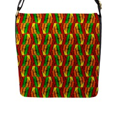 Colorful Wooden Background Pattern Flap Messenger Bag (l)