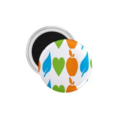 Fruit Apple Orange Green Blue 1 75  Magnets by Mariart