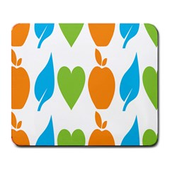 Fruit Apple Orange Green Blue Large Mousepads by Mariart