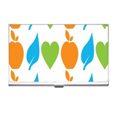 Fruit Apple Orange Green Blue Business Card Holders by Mariart