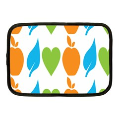 Fruit Apple Orange Green Blue Netbook Case (medium)  by Mariart