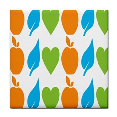 Fruit Apple Orange Green Blue Face Towel by Mariart