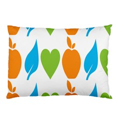 Fruit Apple Orange Green Blue Pillow Case by Mariart