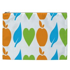 Fruit Apple Orange Green Blue Cosmetic Bag (xxl)