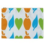 Fruit Apple Orange Green Blue Cosmetic Bag (XXL)  Front