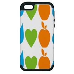 Fruit Apple Orange Green Blue Apple Iphone 5 Hardshell Case (pc+silicone) by Mariart