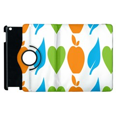 Fruit Apple Orange Green Blue Apple Ipad 3/4 Flip 360 Case by Mariart