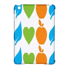 Fruit Apple Orange Green Blue Apple Ipad Mini Hardshell Case (compatible With Smart Cover) by Mariart