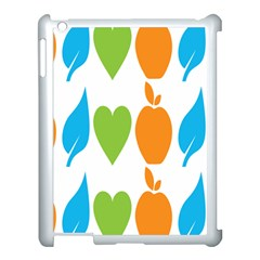 Fruit Apple Orange Green Blue Apple Ipad 3/4 Case (white) by Mariart