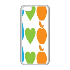 Fruit Apple Orange Green Blue Apple Iphone 5c Seamless Case (white) by Mariart